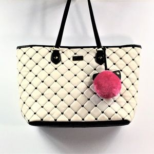 Betsey by Betsey Johnson Tote Pink Kitten Fur Ball
